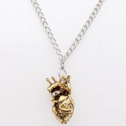 Awesome 3D Heart Pendant Necklace G..